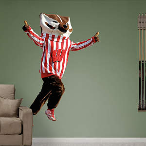 Wisconsin Mascot - Bucky Badger Fathead Wall Decal